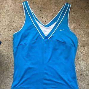 Nike dri fit blue women's athletic tank top